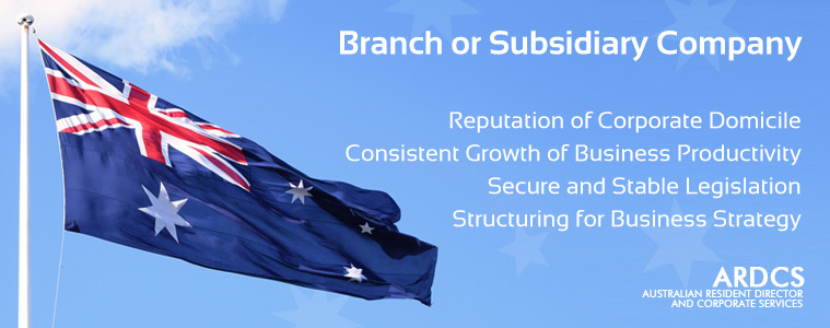 Australian Branch or Subsidiary Company - Corporate Services